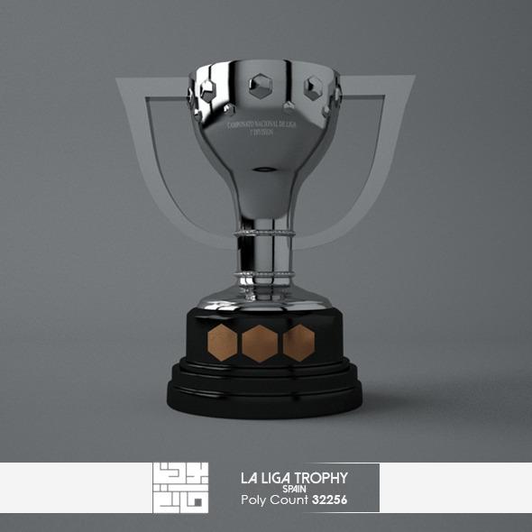 3DOcean La Liga Trophy 3D Model 7383982