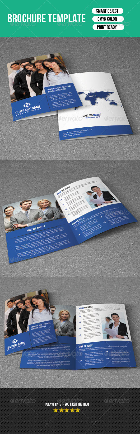 GraphicRiver Bifold Brochure-Business 7384014