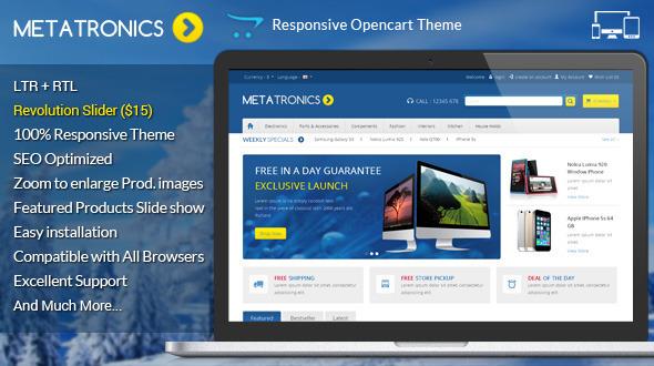 ThemeForest Meta Tronics Opencart Responsive Theme 7337631