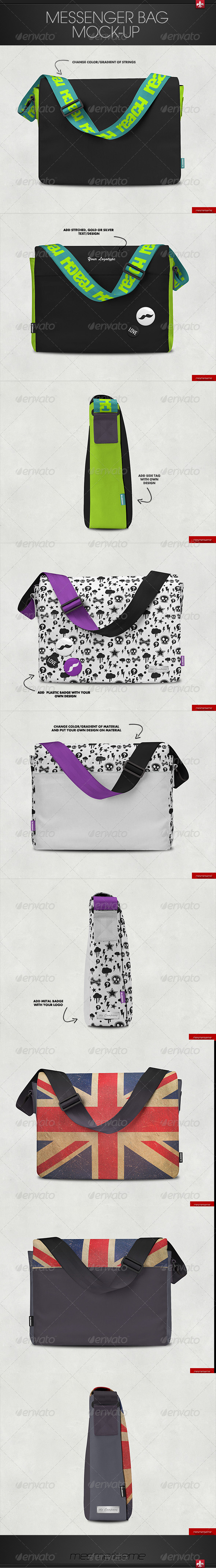 GraphicRiver Messenger Bag Mock-up 7384034