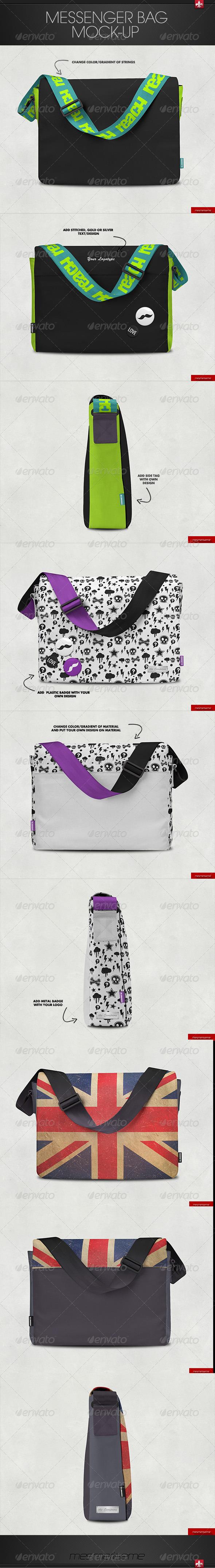 GraphicRiver Messenger Bag Mock-up 7384034