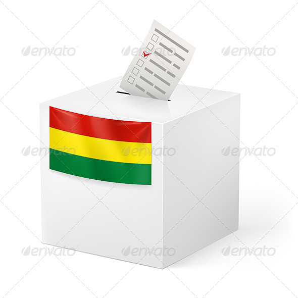 GraphicRiver Ballot Box with Voting Paper Bolivia 7384033