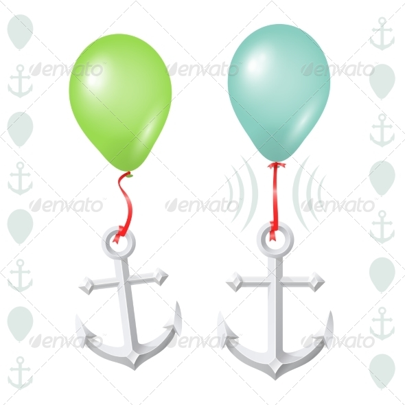 GraphicRiver Conceptual Balance Between Balloon and Anchor 7384040