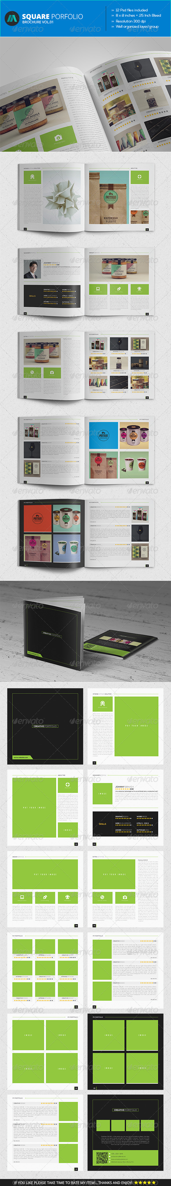 GraphicRiver Square Brochure Portfolio Vol.1 7384090