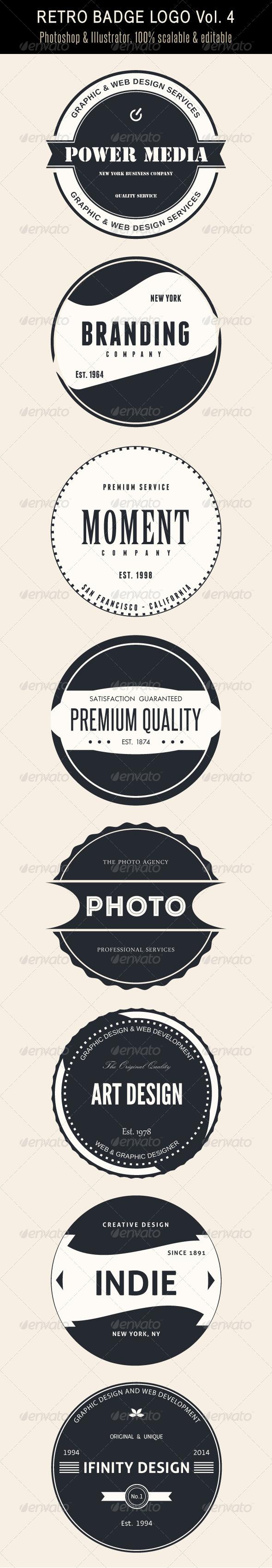 GraphicRiver Retro Badge Logo Vol 4 7374350