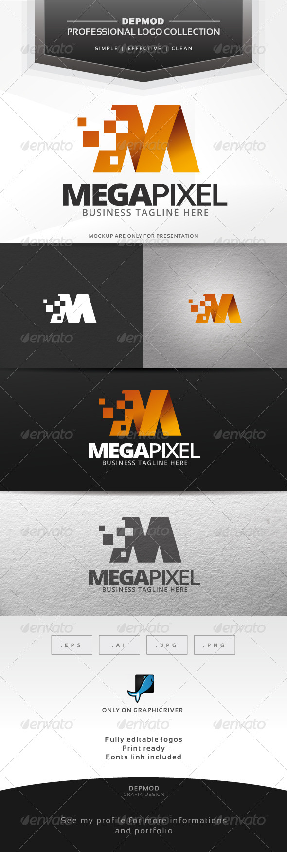 GraphicRiver Mega Pixel Logo 7384314
