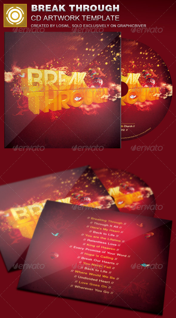GraphicRiver Break Through CD Artwork Template 7384340