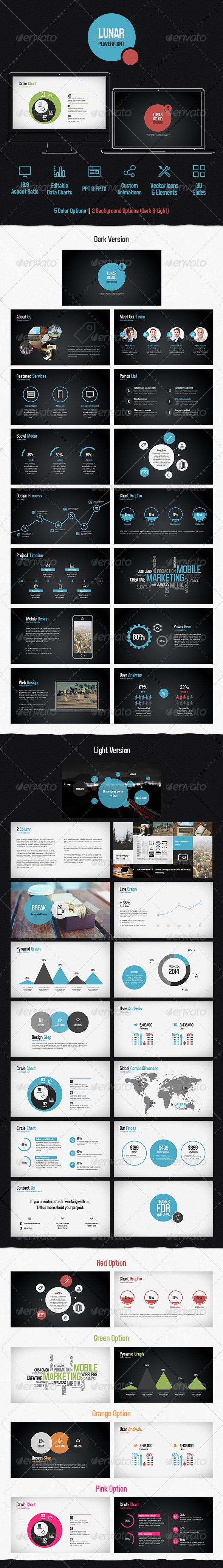 GraphicRiver Lunar Powerpoint Presentation Template 7375725