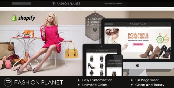 ThemeForest Fashion Planet Shopify Theme 7384365
