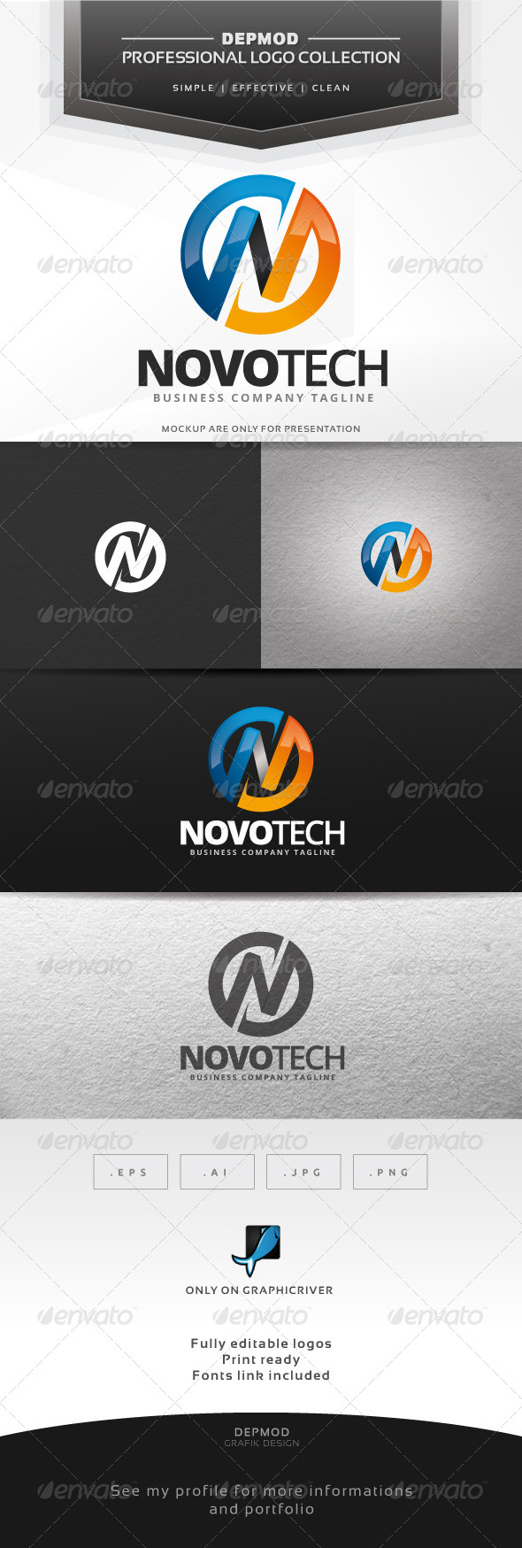 GraphicRiver Novo Tech Logo 7384380