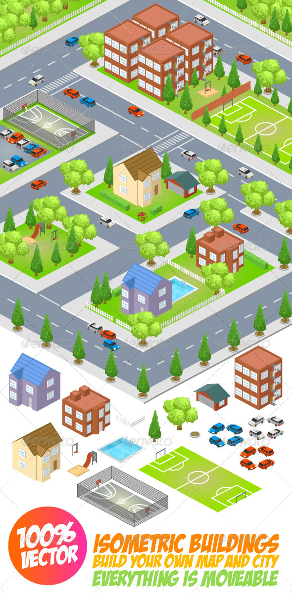GraphicRiver Isometric Buildings 1.0 7376190