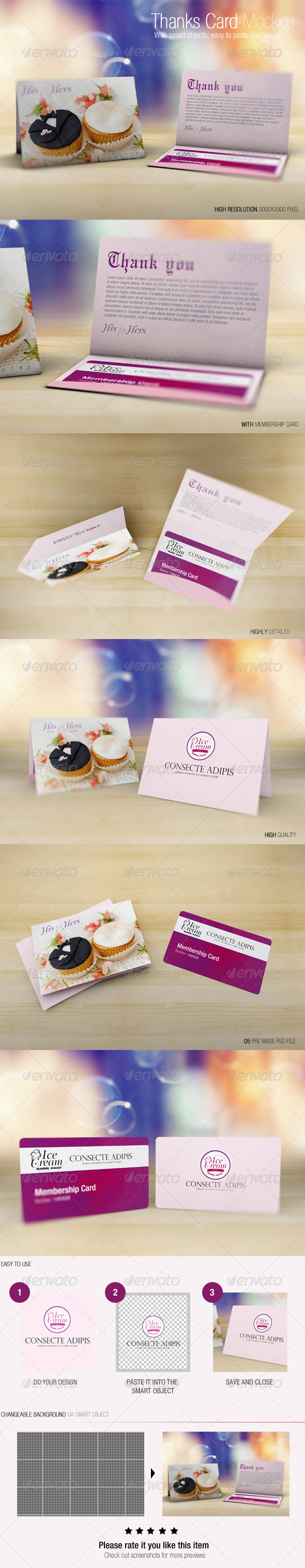 GraphicRiver Thanks Card Mockup 7384555