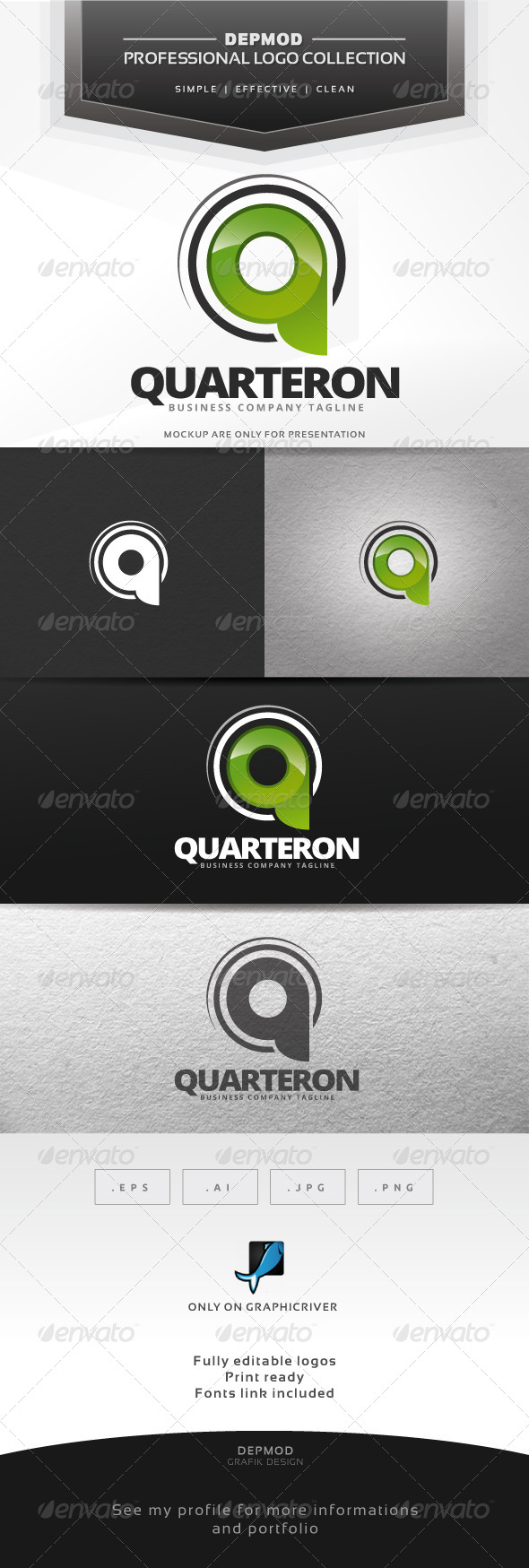 GraphicRiver Quarteron Logo 7384585
