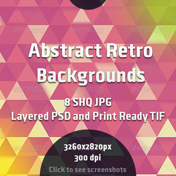 GraphicRiver Abstract Retro Backgrounds 7384586