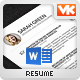 A1 - 1 or 2 Piece Simple and Clean Resume Template - GraphicRiver Item for Sale