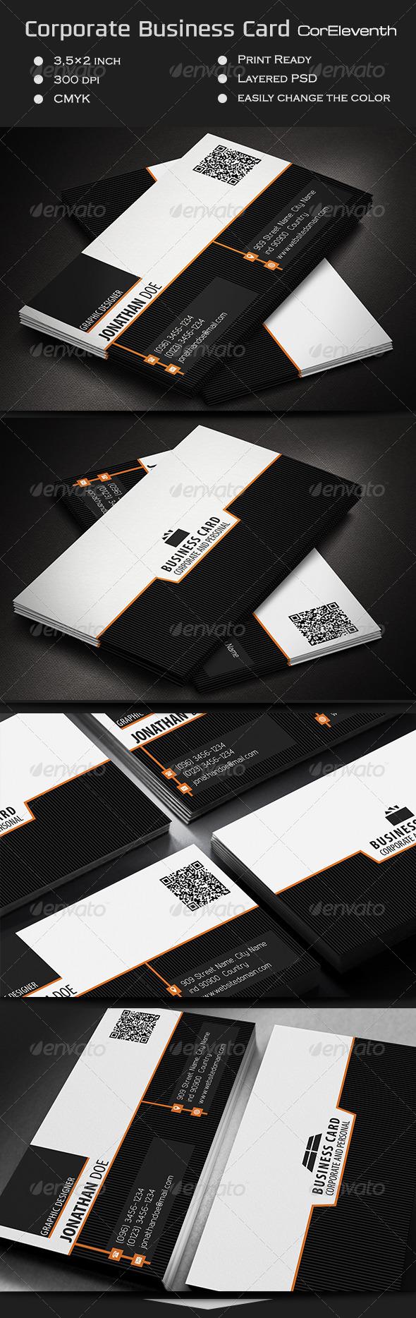 GraphicRiver Corporate Business Card CorEleventh 7384604