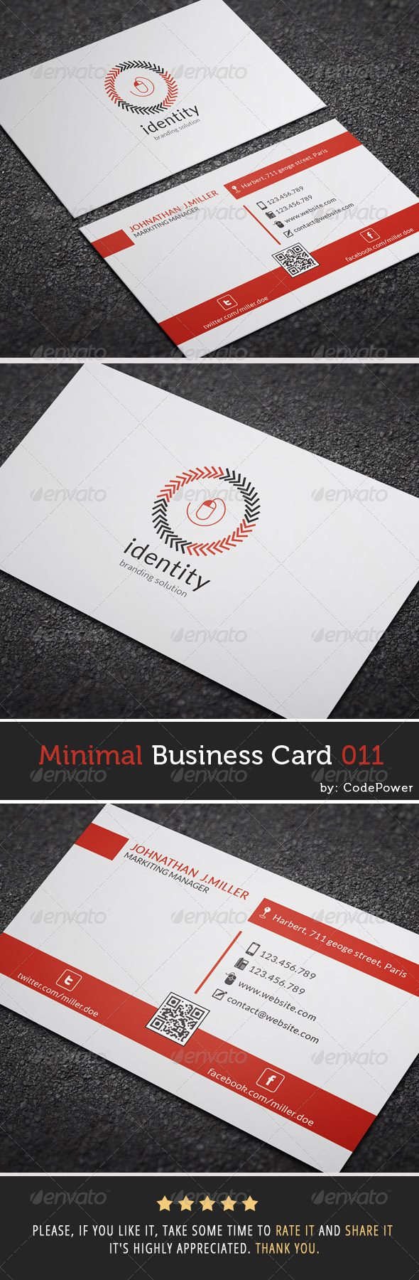 GraphicRiver Minimal Business Card 011 7384612