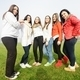 Group of young teenage girls together in nature - PhotoDune Item for Sale