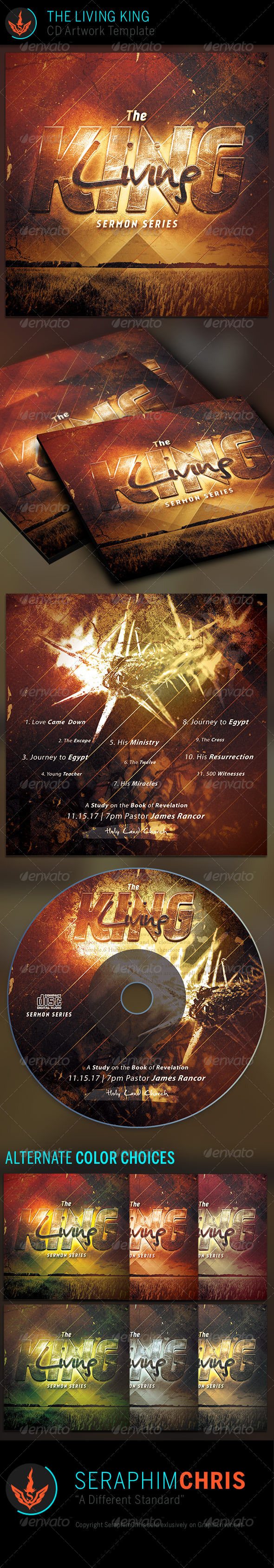 GraphicRiver The Living King CD Artwork Template 7384783