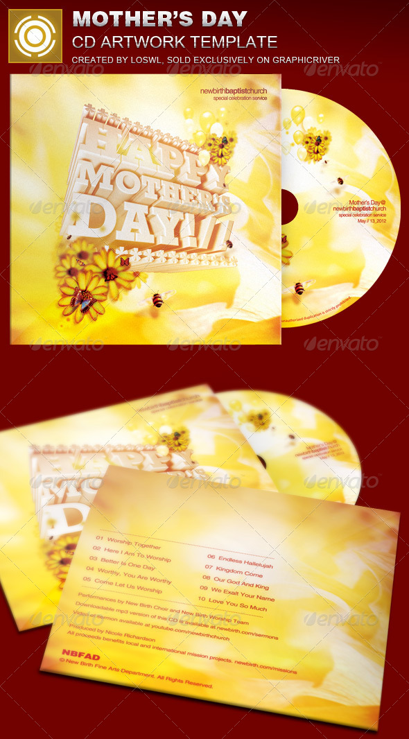 GraphicRiver Mother s Day CD Artwork Template 7384798