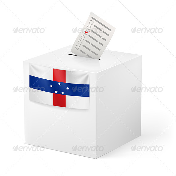 GraphicRiver Ballot Box with Voting Paper Netherlands Antilles 7384899