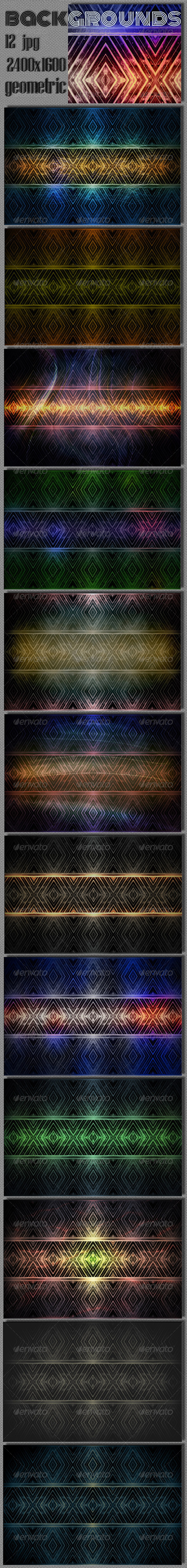 GraphicRiver Geometric Rhombus Background 7384933