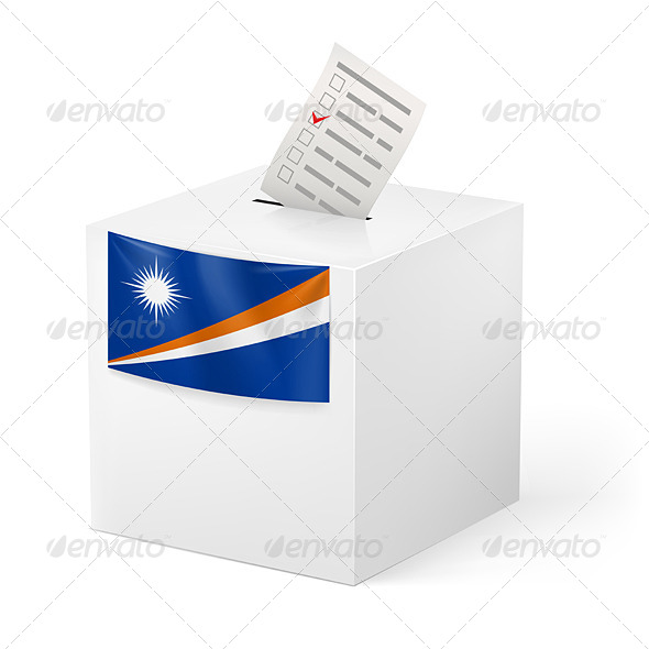 GraphicRiver Ballot Box with Voting Paper Marshall Islands 7384936