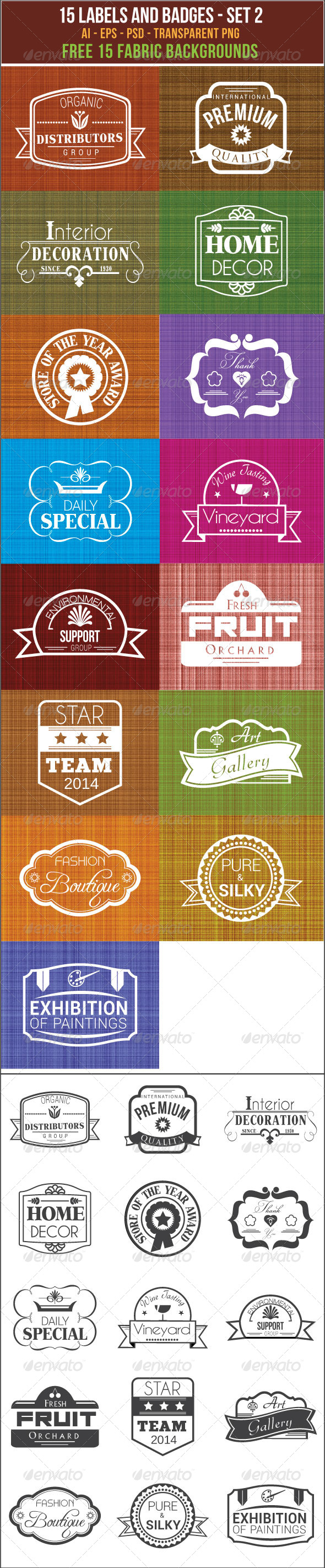 GraphicRiver 15 Labels and Badges 7367257