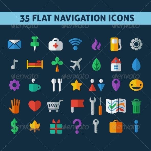 GraphicRiver Navigation Icons 7385026