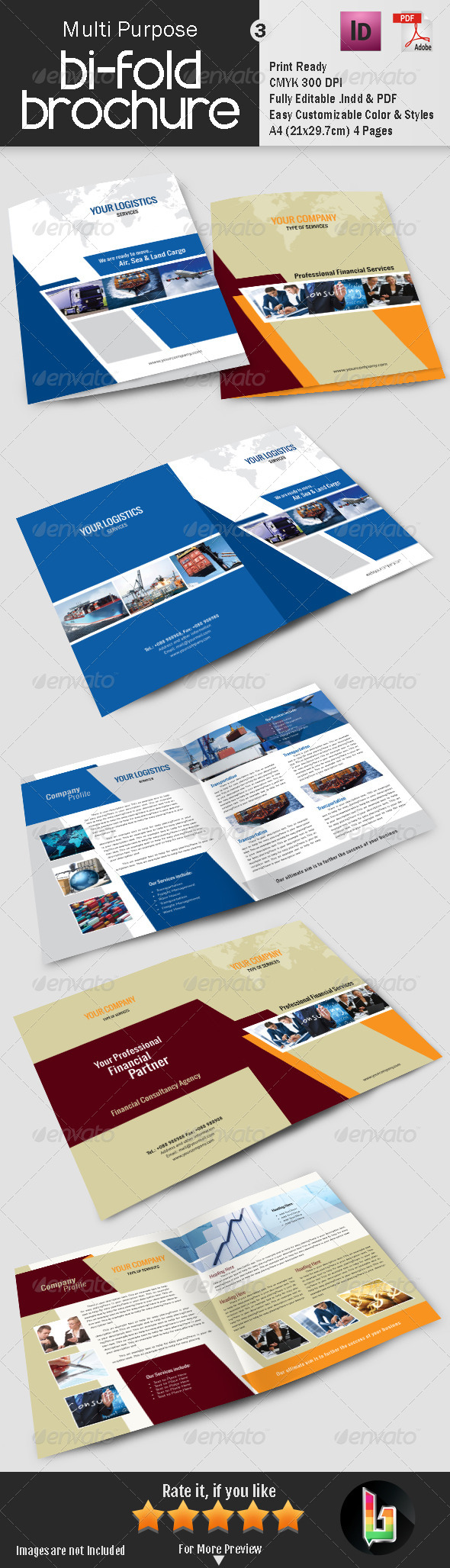 GraphicRiver Multi Purpose Bi-Fold Brochure 3 7385046