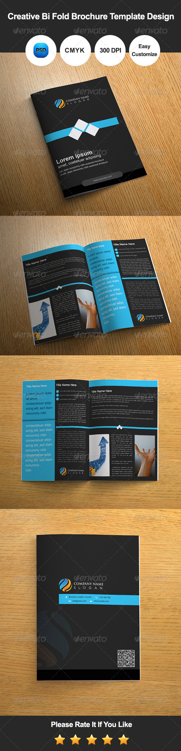 GraphicRiver Creative Bi Fold Brochure Template Design 7385074