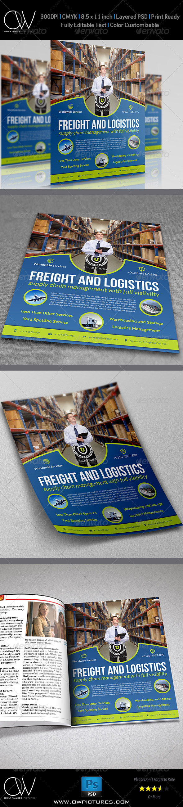 GraphicRiver Freight and Logistic Services Flyer Template Vol.4 7385099