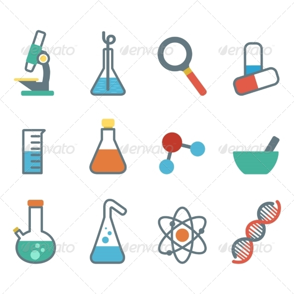 GraphicRiver Flat Icon Science 7385126