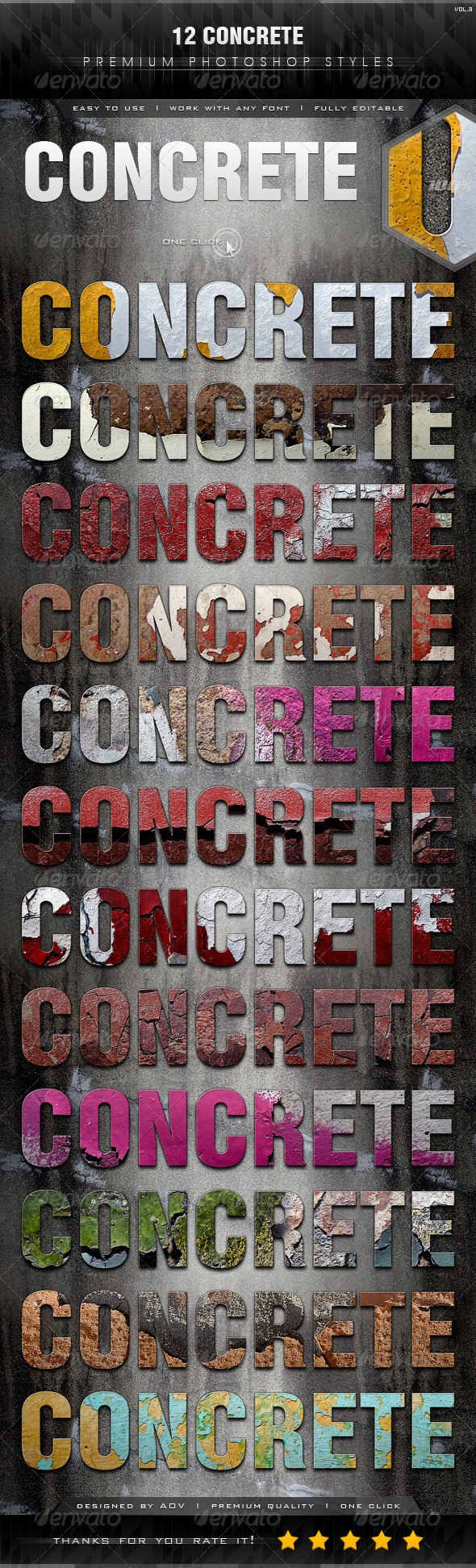 GraphicRiver 12 Concrete Styles Vol.3 7385141