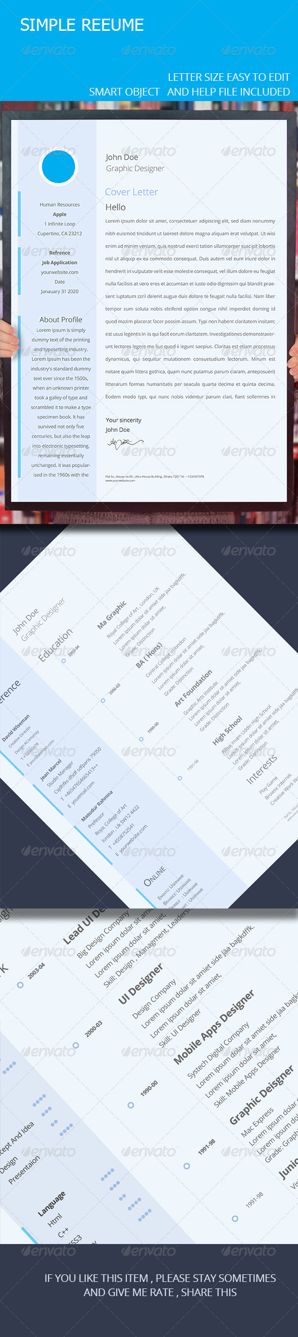 GraphicRiver Simple Resume &&& 7377077