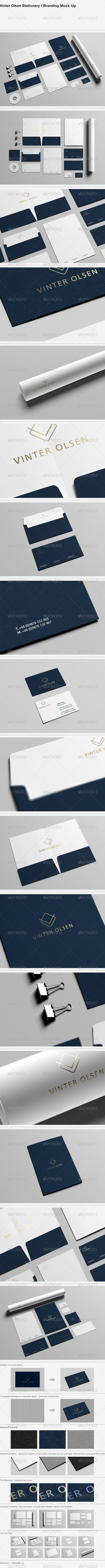GraphicRiver Vinter Olsen Stationery Branding Mock-Up 7385322