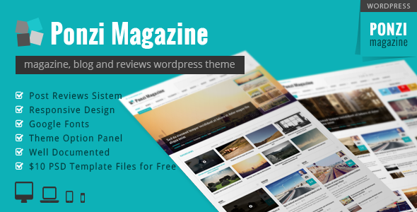 Responsive Magazine Blog News Wordpress Theme