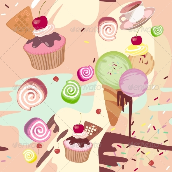 GraphicRiver Mixed Colourful Sweet Background 7385543