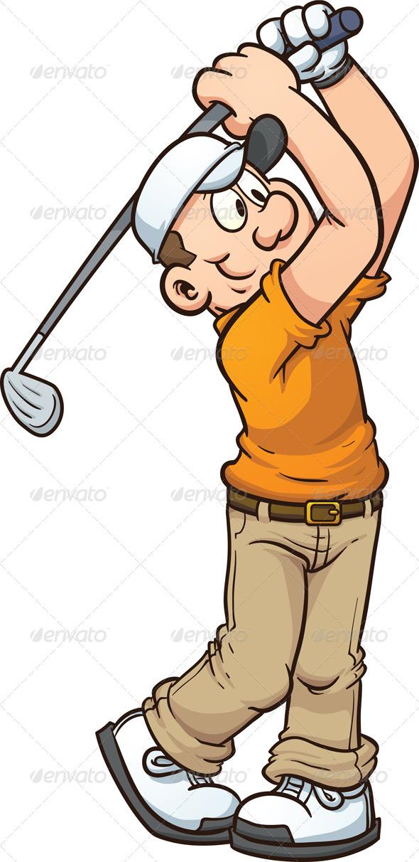GraphicRiver Cartoon Golfer 7385631