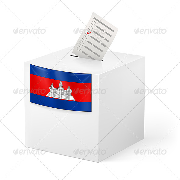 GraphicRiver Ballot Box with Voting Paper Cambodia 7385722