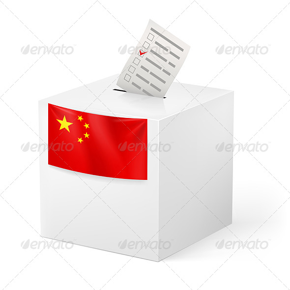 GraphicRiver Ballot Box with Voting Paper China 7385731