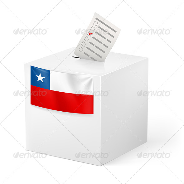 GraphicRiver Ballot Box with Voting Paper Chile 7385775