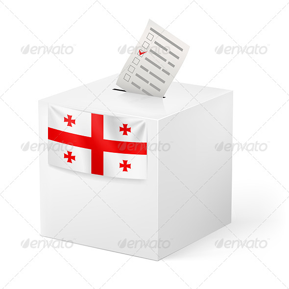 GraphicRiver Ballot Box with Voting Paper Georgia 7385779