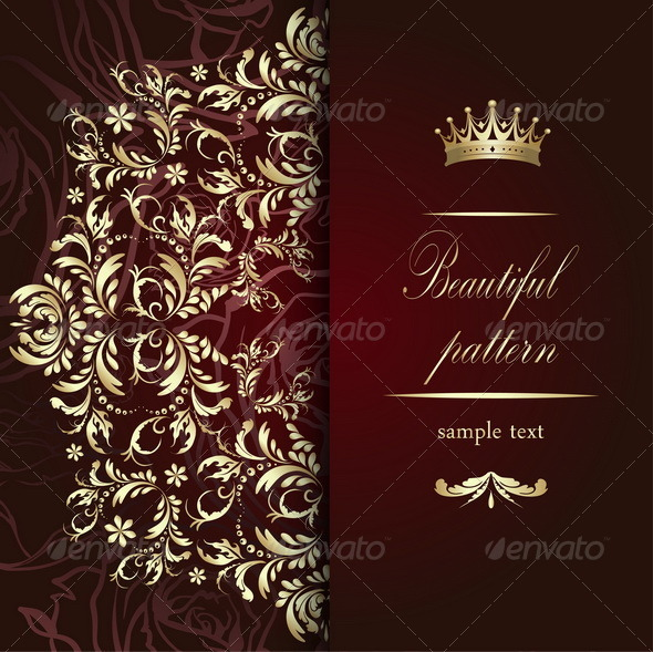GraphicRiver Elegant Golden Pattern 7385782