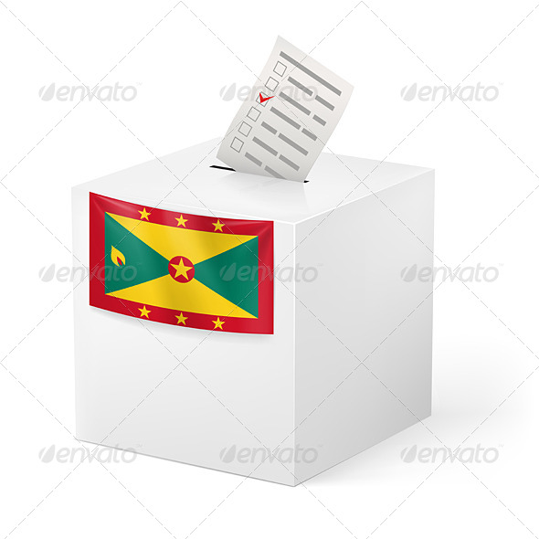 GraphicRiver Ballot Box with Voting Paper Grenada 7385786