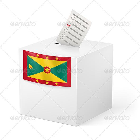 GraphicRiver Ballot Box with Voting Paper Grenada 7385786