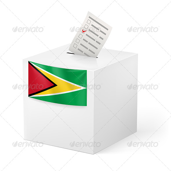 GraphicRiver Ballot Box with Voting Paper Guyana 7385808