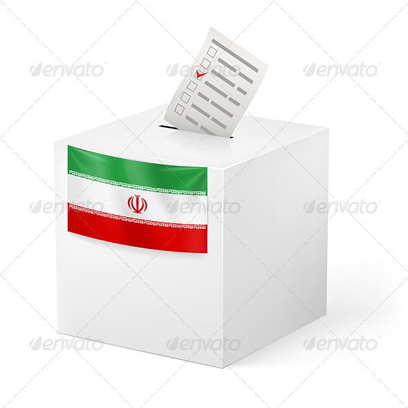 GraphicRiver Ballot Box with Voting Paper Iran 7385809