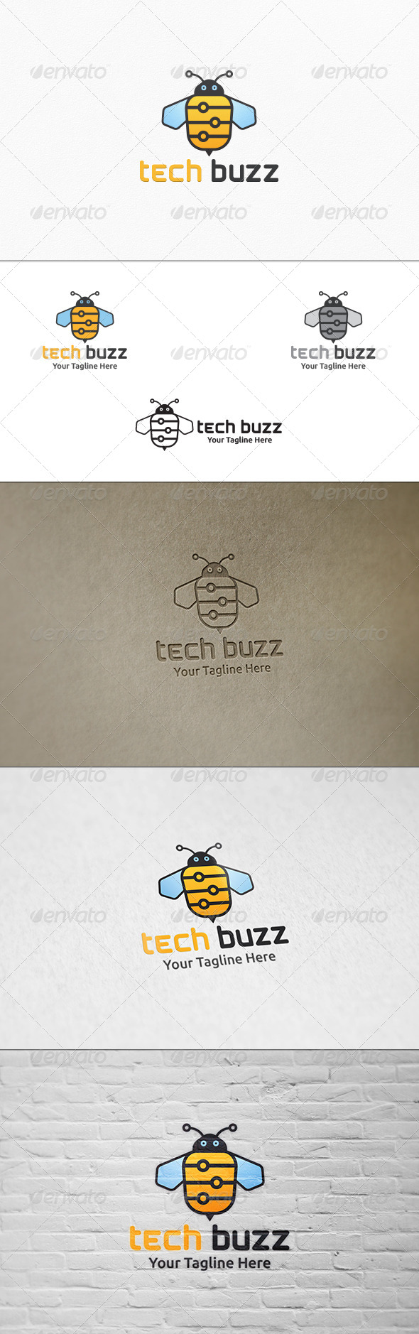 GraphicRiver Tech Buzz Logo Template 7385814