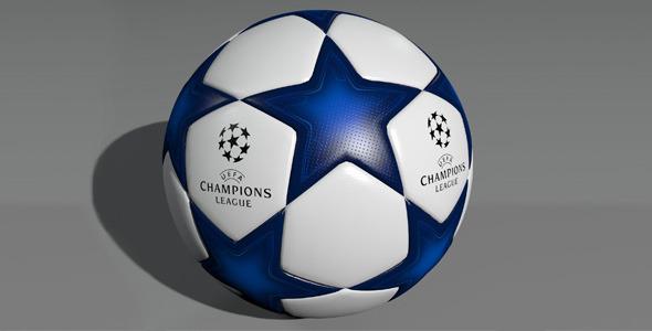 3DOcean UEFA Champions League Ball 3D Model 7386060
